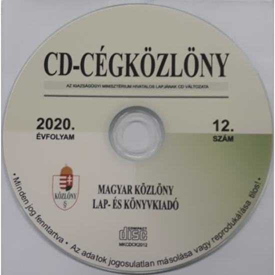 CD-Cégközlöny 2020.