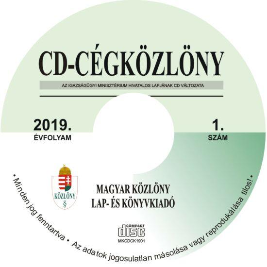CD-Cégközlöny 2019.