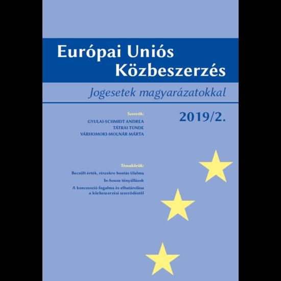 Európai Uniós Közbeszerzés 2019/2.