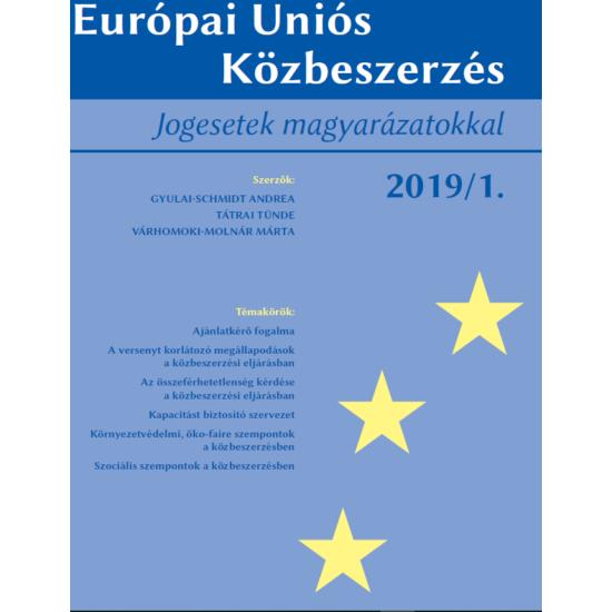 Európai Uniós Közbeszerzés 2019/1.
